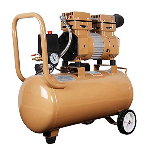 WUK Compresor de Aire Bomba sin Aceite Compresor portátil 6/9 / 30L Silencioso (65dB) Compresor de Aire pequeño de 600 / 800W para decoración del hogar Pintura en Aerosol Inflado de neumáticos