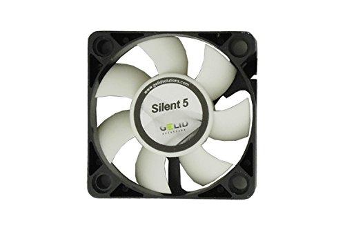 GELID Solutions Silent 5 de 4 pines de 50mm para la carcasa estándar | Operación silenciosa | Aspas del ventilador optimizadas