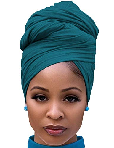 Hijab Scarfs for Women to Cover Face Stretch Headwear for Church Prayers Chemotherapy Green