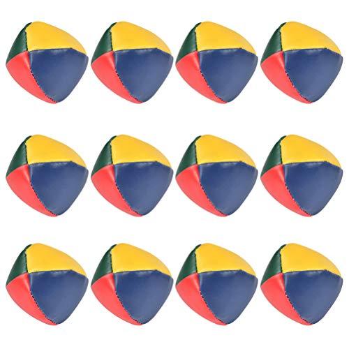 FOROREH 12Pcs Jonglierbälle Ø 5cm Premium Jonglierball Set, Wasserabweisend Robuste Lustige Spielbälle Interaktives Jonglier-Set für Kinder & Anfänger