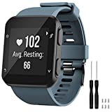 GVFM - Correa de repuesto compatible con Garmin Forerunner 35, de silicona suave para reloj inteligente, ajuste de muñeca de 130 a 230mm, pizarrón (hebilla negra)