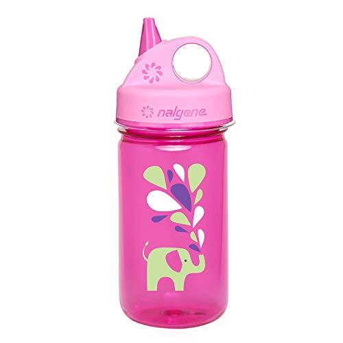 Nalgene Grip #039n Gulp Bottle Pink Elephant 12oz