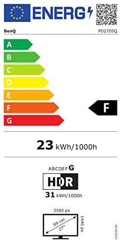 BenQ PD2705Q 68,58cm 27Zoll LCD-Display IPS Panel 2560×1440 WQHD HDMI DP in/out USB-Typ-C schwarz - 14