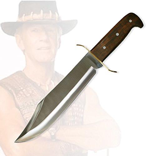 Jagdmesser Outdoormesser Bowiemesser im Stil Dundee (794) mit Lederetui und Gürtelhalter