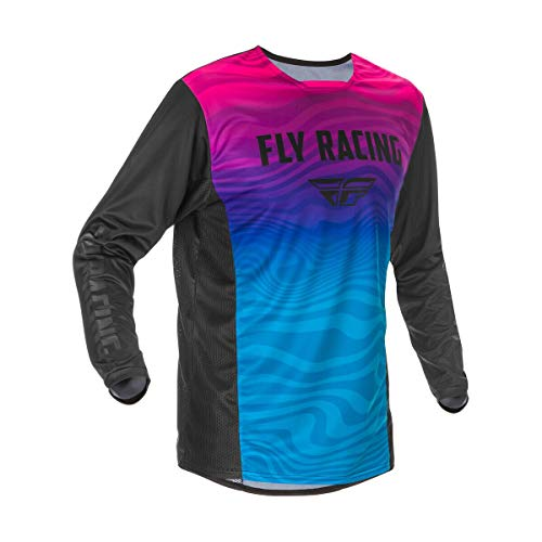 Fly Racing 2021 Kinetic SE Jersey (Medium) (Black/Pink/Blue)