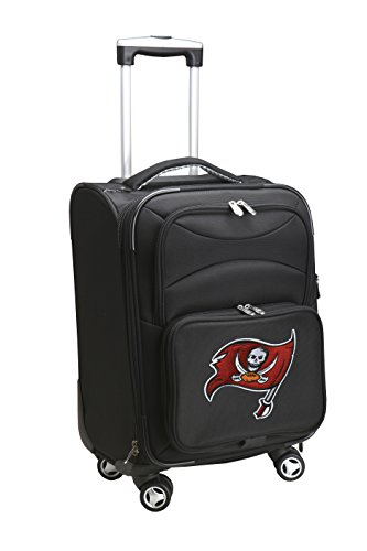 Denco NFL Tampa Bay Buccaneers Domestic Carry-On Spinner, 20-Inch, Black