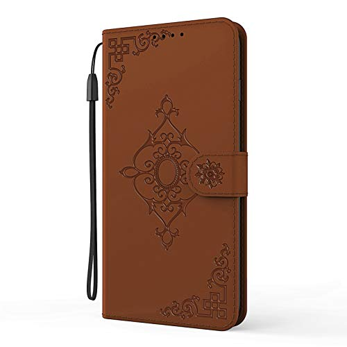 LJP Case for Samsung Galaxy S8 Plus, Shockproof PU Leather Flip Notebook Wallet Cases with Magnetic Closure Money Pocket Card Slot Folio Soft TPU Bumper Protective Cover for Samsung S8 Plus - Brown