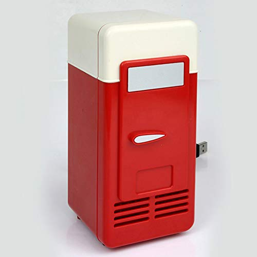 Refrigerador para Automóvil USB Nevera PequeñaEl Refrigerador para Bebidas De 780ML Nevera Portatil ElectricaSe Puede Utilizar para Computadoras, Energía Móvil Y Enchufes USB(19.4 * 9 * 9Cm)
