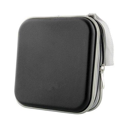 Xiton Sac de Rangement de CD Mallette de Transport Portable Bureau Voiture Voyage (Noir)