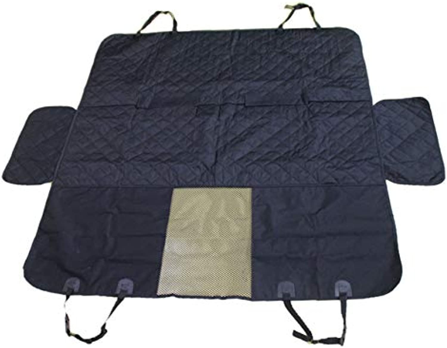 Pet car seat, FrontPet Quilted Dog Cargo Cover for SUV, Universal Fit for Any Pet Animal. Durable Liner Covers and Predects Your Vehicle, Regular,Black