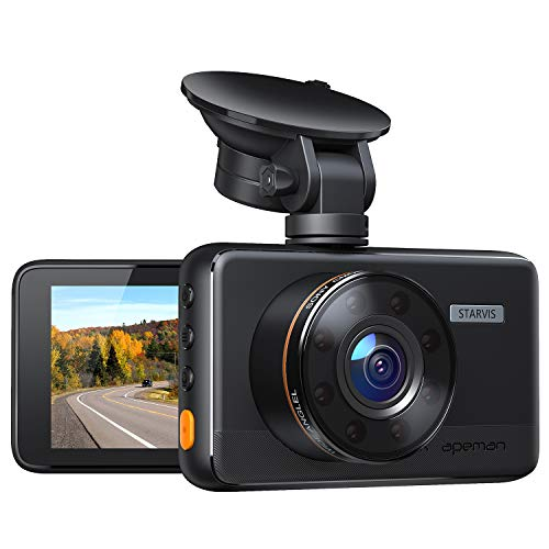 APEMAN Dash Cam 1080P Car Camera with 8 IR Light, 3' IPS Screen, 170° Wide Angle, G-Sensor, WDR, Loop Recording, Motion Detection, Super Night Vision (New Version)