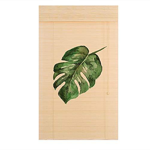 Bambusrollo HD-Musterdruck-Bambus-Jalousien, Easy-Fit-Fenster Mit Rollo-Vorhang, Für Windows Nach Maß (Farbe : Flat Curtain, größe : 125(L) x220(H) cm)