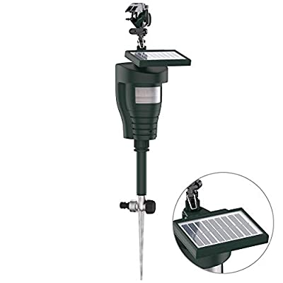 Hoont Cobra Animal Repeller | Outdoor Solar-Powered Motion-Activated Water Blaster with Powerful Jet Spray for Yard, Lawn & Garden | Scare Away Deer, Rabbits, Squirrels, Birds & Other Animals & Pests