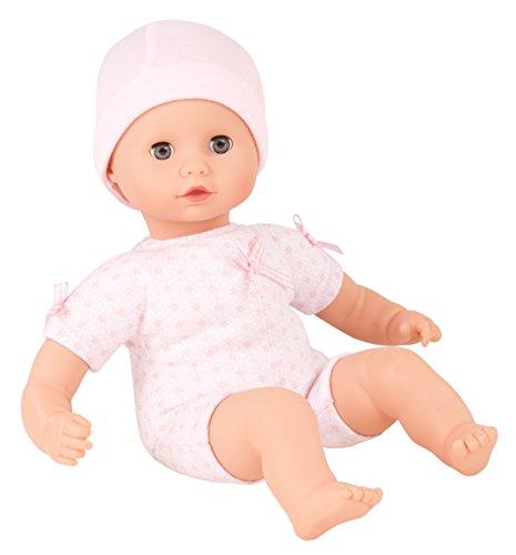 Götz 1320590 Muffin to Dress Mädchen Puppe - 33 cm große Babypuppe mit blauen Schlafaugen, ohne Haare mit Mütze - Weichkörper-Puppe ab 18 Monaten