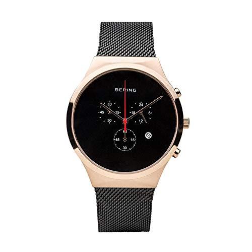 Bering Herren Chronograph Quarz Uhr mit Edelstahl Armband 14736-166