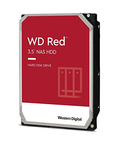 WD Red, Disque dur interne NAS 3 To - 5400 rpm, SATA 6 Go/s, SMR, Cache de 256 Mo, 3,5 po