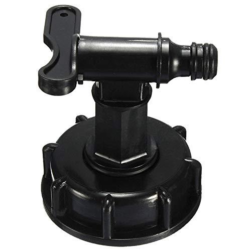 YUZHA adapter voor tuinslang met tank voor IBC 1000 L IBC op 1/2 inch (15 mm) zwart.