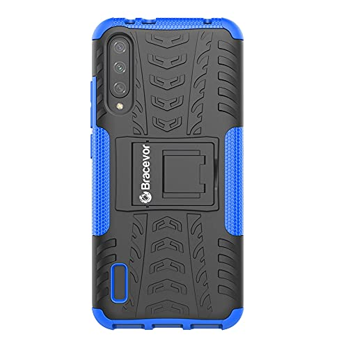 Bracevor Hybrid Back Cover Kickstand Case for Xiaomi Mi A3 - Blue | Rugged Defender