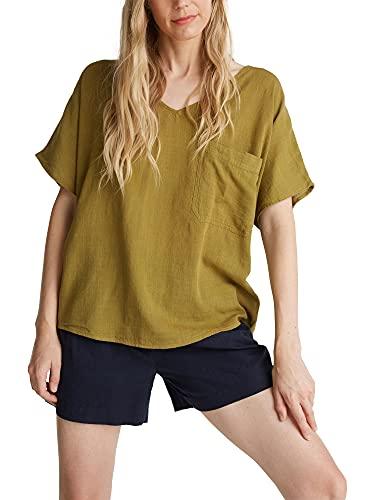 ESPRIT Damen 070EE1F309 Bluse, Olive, 44