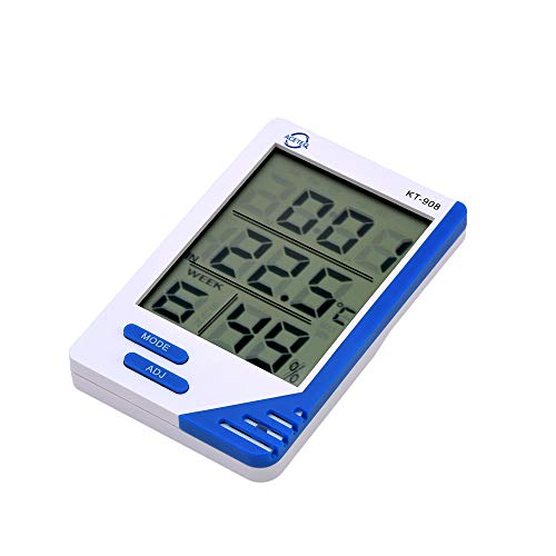 Thermocare Digital Room Thermometer with Humidity Indicator and Clock
