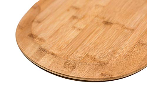 """Oberhoffe Pizza Peel,Premium Natural Bamboo Pizza Peel,Pizza Spatula Paddle Cutting Board Handle,Perfect for Homemade Pizza, Bread Baking,Cutting Fruit, Vegetables, Cheese (17.7"""" x 12"""")"""
