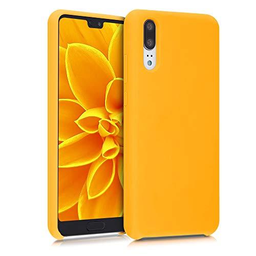 kwmobile Custodia Compatibile con Huawei P20 - Cover in Silicone TPU - Back Case per Smartphone - Protezione Gommata Giallo Zafferano