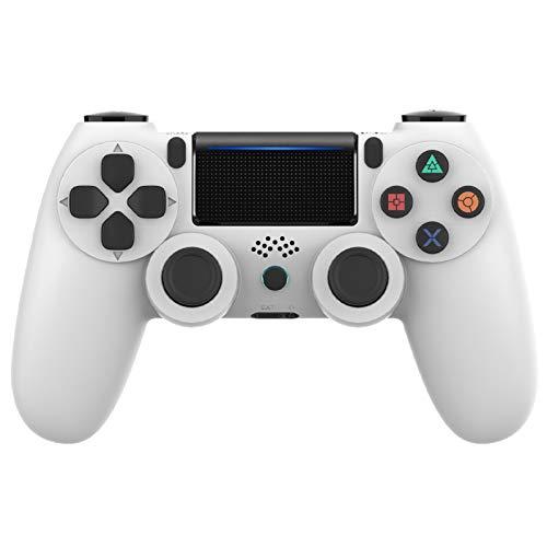 Controller per Playstation 4, VINSIC Wireless Joystick Playstation 4, Controller di Gioco Senza Fili con Joypad del Dualshock per Playstation 4 Slim/PRO And PC (Bianca)