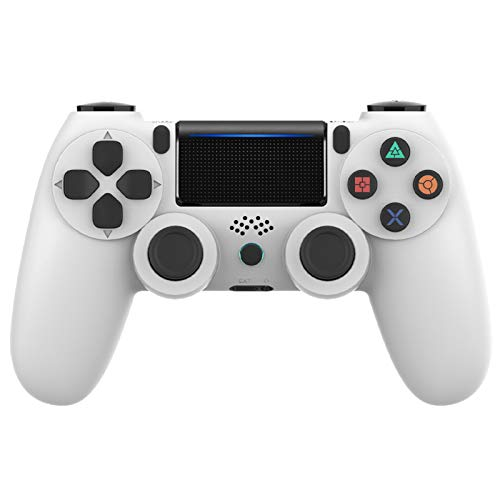 Controller PS4, VINSIC Wireless Joystick Playstation 4, Controller di Gioco Senza Fili con Joypad del Dualshock per PS4 Slim/PRO And PC (Bianca)