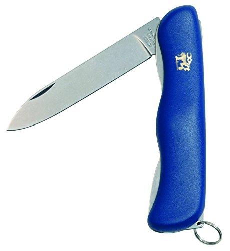 Mikov Praktik Taschenmesser, 1 Funktion Multitool Messer, BLUE Kunststoff Griff, scharfes kleines Klappmesser, Outdoormesser 9cm ROSTFREI Klinge für Jagen/ Angeln/ Camping, Multifunktionswerkzeug