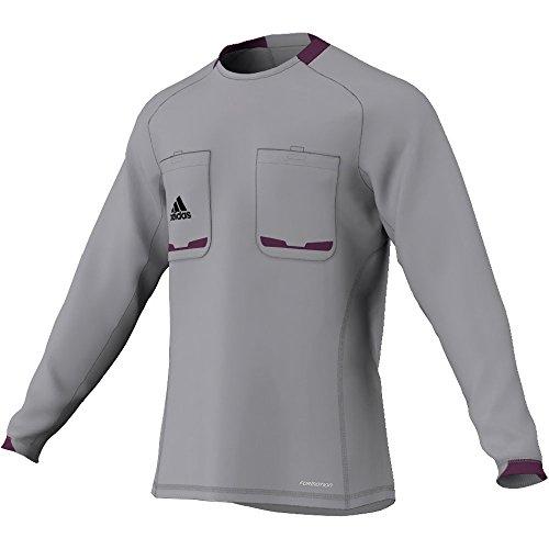 adidas Herren langärmliges Schiedsrichter Trikot Referee 12, Aluminum/Purple Beauty F10, M, X19662