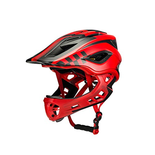 ROCKBROS Kids Safety Children Helmet for Bike Scooter Bicycle Skateboard Child Anti-sweat Full Face Helmet Shockproof Safety 48-58CM MTB BMX Detachable Chin with 12 Ventilation Holes