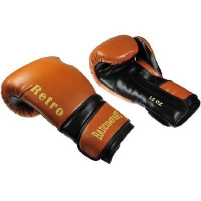 Profi Retro PU Boxhandschuhe schwarz / braun - Klassische Boxhandschuhe, 16 Unzen (OZ)