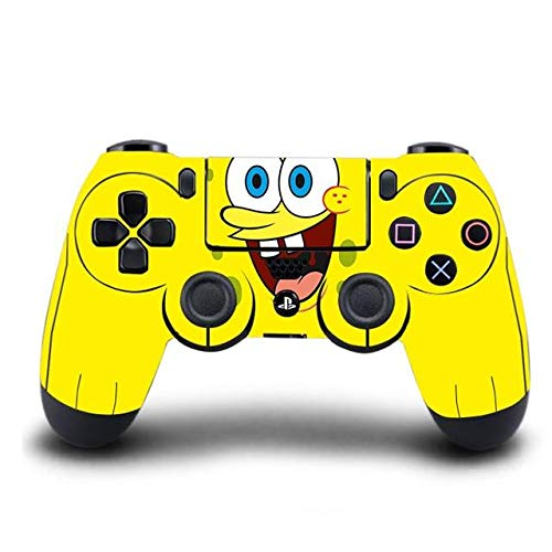 PS4 Controller Skin Spongebob PVC HD PS4 Sticker Cover for Playstation 4 Wireless Controller Skin PS4 Accessory - A2 Style01