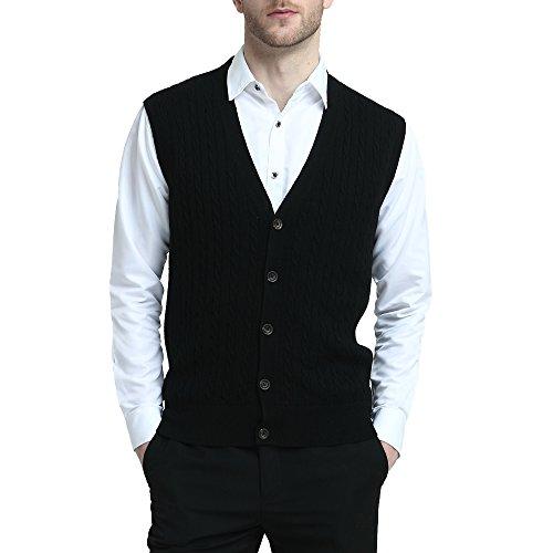 Mens Button Front Sweater Vest