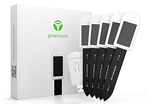 greensens Smarte Pflanzensensoren mit WLAN Hub für Zimmerpflanzen - Hobby Set mit 5X Pflanzensensoren und 1x WLAN Gateway - NEUHEIT