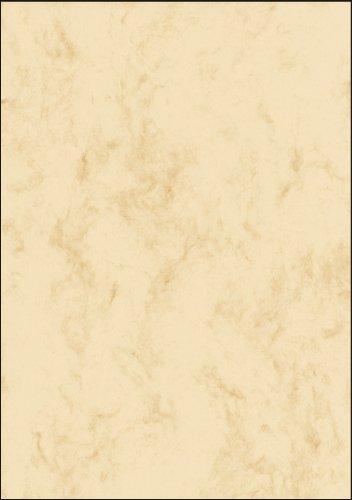 SIGEL DP907 Marmor-Papier beige, A5, 100 Blatt, Motiv beidseitig, Briefpapier 90 g