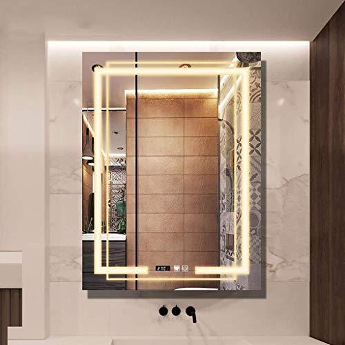 LED beleuchtete Badezimmerspiegelleuchte, wasserdichtes Rasierkleid An der Wand montierter Smart Touch Switch Waschtisch Großer Spiegel, Schlafzimmer Wohnzimmer Flur Jeder Raum
