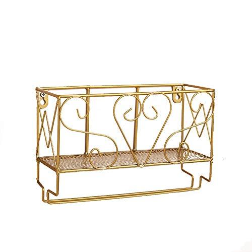 GUOXIANG Botellero de metal dorado con soporte para copas de vino, estantería de pared para colgar botellas de vino, estantería de pared para salón, cocina