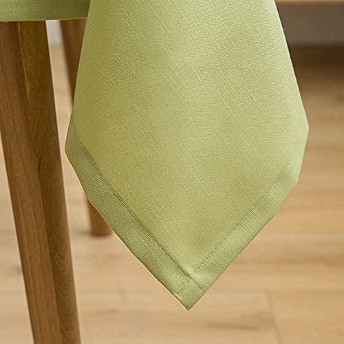n.g. Family Life Equipment Tischdecke Farbige Tischdecke Rechteckige Tischdecken Baumwolle Leinen Tischdecke Geeignet fürHeimkücheDekoration(135 * 135cm)(Color : 413 Size : 135 * 135cm)