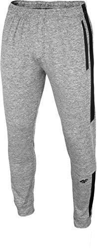 4F Herren Trainingshose Ted Pantalones de Entrenamiento funcionales, Hombre, Cold Light Gris Jaspeado, XXX-Large
