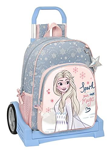 Safta Mochila 180 Espalda Ergonómica con Carro Evolution de Frozen II Magical Seasons, 330x140x420 mm