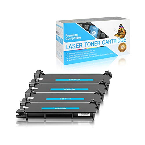 SuppliesOutlet Compatible Toner Cartridge Replacement for Brother TN630 / TN660 / TN-660 (Black,4 Pack)