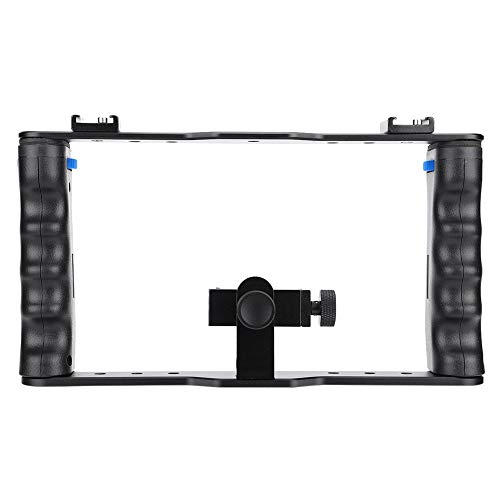 01 Empuñadura de cámara, Jaula estabilizadora de cámara, Ajustable Desmontable para Suministro de fotografía de Smartphone Kit de empuñadura de empuñadura de cámara para Sujetar la Mano