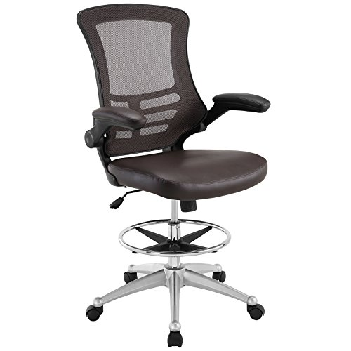 Modway Attainment Vinyl Drafting Chair -...