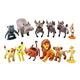YUK Cartoon The Lion Guard King Kion Simba PVC figuras de acción Bunga Beshte Fuli Ono Figurines Muñeca Juguetes para niños Niños (12 piezas bolsa de opp)