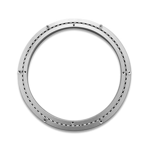 TROOPS BBQ Lazy Susan Turntable Ring - Heavy-Duty Aluminum Lazy Susan Bearing Hardware Single-Row Ball Bearings for Heavy Loads (300 lbs. Capacity) - 16 Inches