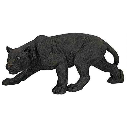 Design Toscano Shadowed Predator Black Panther Garden Statue, Medium 26 Inch, Polyresin, Black