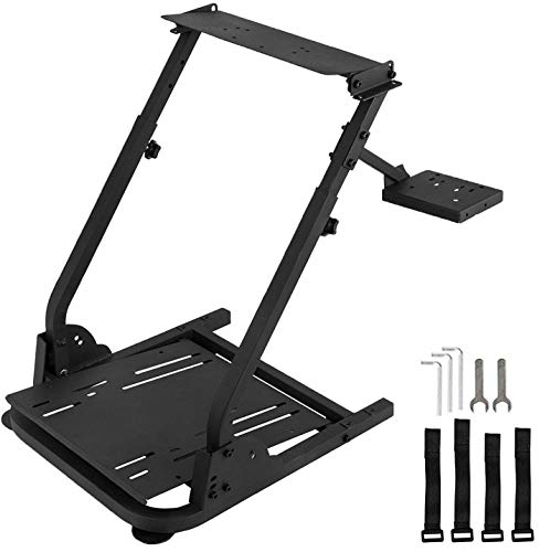 Racing Wheel Stand with Shifter Mount, Racing Steering Wheel Stand Height Adjustable, Gaming Wheel Stand fit for Logitech G920 G29 G27 G25, Wheel and Pedals NOT Included