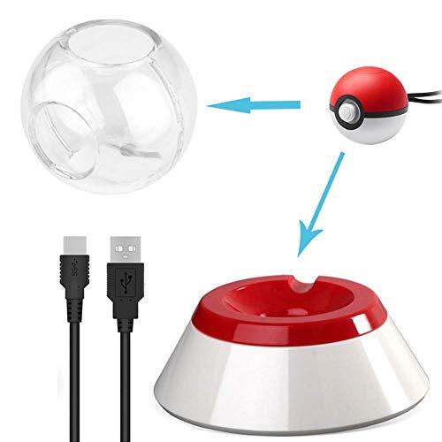 Cable cargador USB con soporte (con funda protectora adicional) para Nintendo Switch...
