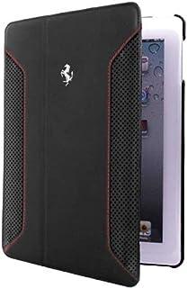 Ferrari Folio Genuine Leather Case for Apple iPad Air, Black [FEF12FCD5BL]